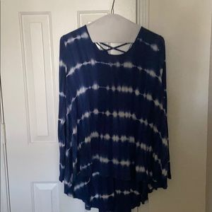 CLEARANCE: Blue tye dyed blouse